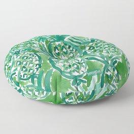 DEM PINEAPPLES Green Tropical Floor Pillow