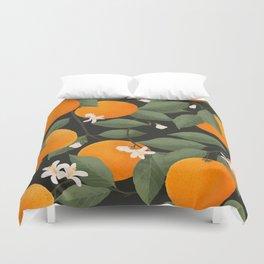 fresh citrus // dark Duvet Cover