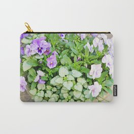 Purple Flowers in Urn Carry-All Pouch