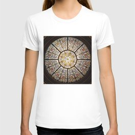 Stained glass window glass ceiling T-shirt