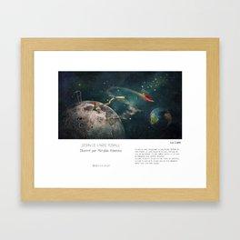 """La Lune"" en Mots & Image illustré par Matylda Konecka (French Touch) Framed Art Print"