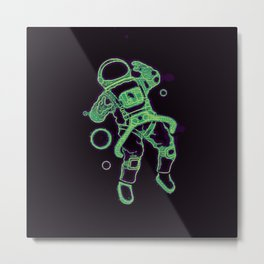 Astro man in space Metal Print