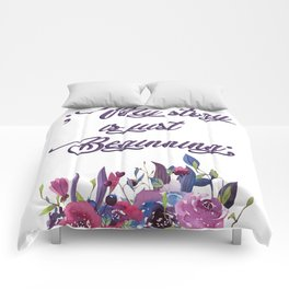 Positive message, suicide prevention awareness Comforters