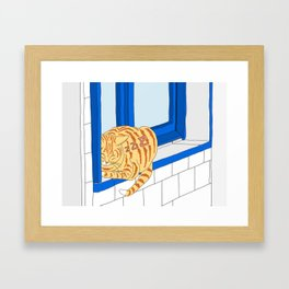 Good Cat's Life Framed Art Print