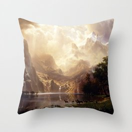 Albert Bierstadt - Among the Sierra Nevada, California Throw Pillow