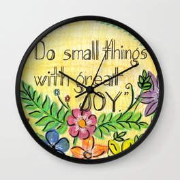 Small Joy Wall Clock