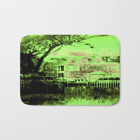 Green Spooky Boathouse Bath Mat