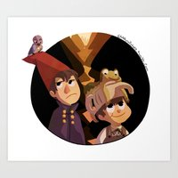 over the garden wall Art Prints featuring Over the Garden Wall by stubbornpotato