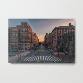Amsterdam Ave, Columbia University 01 Metal Print