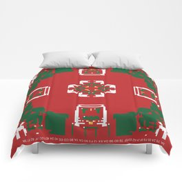 CA Fantasy Red Merry Christmas series #6 Comforters