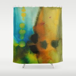 Intermingling of Color Shower Curtain