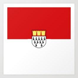 Flag of Cologne Köln Art Print