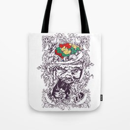 Skull with Brain OUT Tote Bag