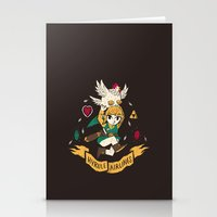 hyrule Stationery Cards featuring hyrule airlines brown by Louis Roskosch