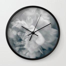 Blue peonies 3 Wall Clock