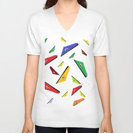 pattern triangular eyed design Unisex V-Neck