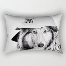 The Fire Man - Collie Dog Rectangular Pillow