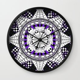 Nightmarish zentangle Wall Clock
