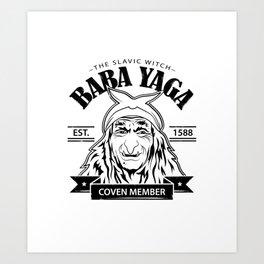 Baba Yaga Art Print