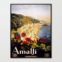 Vintage poster - Amalfi Canvas Print