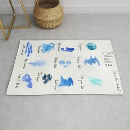 Blues -a watercolor collection of shades Rug