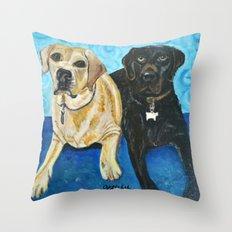Daisy & Cocoa Throw Pillow