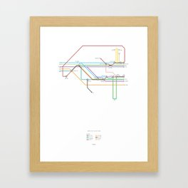 Character Map – Back to the Future Framed Art Print