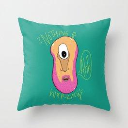 Beardy Cyclops Throw Pillow