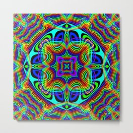 Rainbow Kaleidoscope 6 Metal Print