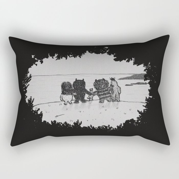 Surrounded By Your Friends Rectangular Pillow