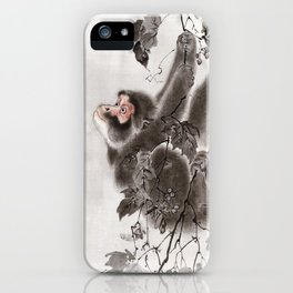 Monkey Hanging from Grapevines iPhone Case
