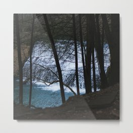 Waterfall at Edwards Point Metal Print