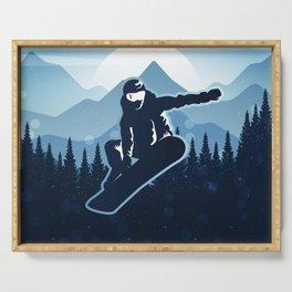 Royal Skiing - Attitude - Ski Snowboard Fly Skyline Serving Tray