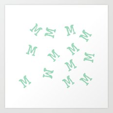 M is for Mint Art Print