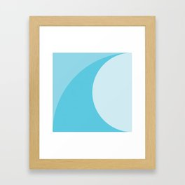 Geometric No. 44 Atlantic Wave Framed Art Print
