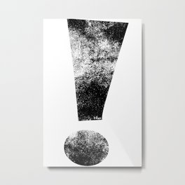 Distressed Black Whee! Exclamation Point Metal Print