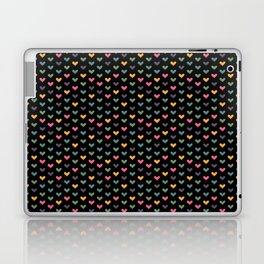 Small hearts on black Laptop & iPad Skin