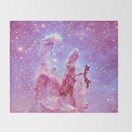 Galaxy nebula : Pillars of Creation lavender mauve periwinkle Throw Blanket