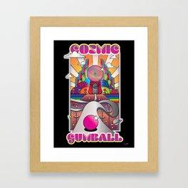 Cosmic Gumball - The Final Approach  Framed Art Print