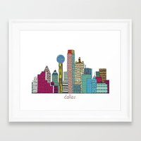 dallas Framed Art Prints featuring Dallas city  by bri.buckley