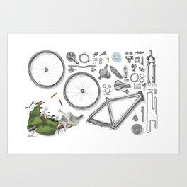 a bike's flatlay Art Print