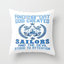 SAILORS Throw Pillow