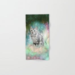 Purrsia Kitty Cat in the Emerald Nebula of Innocence Hand & Bath Towel