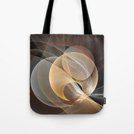 Brown, Beige And Gray Abstract Fractals Art Tote Bag