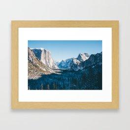 Yosemite Valley in Winter Framed Art Print