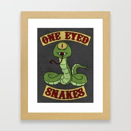 One Eyed Snakes Framed Art Print