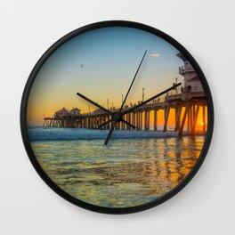 Orange Sunset in Orange County Wall Clock