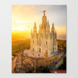 Templo Expiatorio del Sagrado Corazón Canvas Print