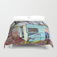nudes Duvet Covers featuring Lewiston Biltmore by Kim Leutwyler