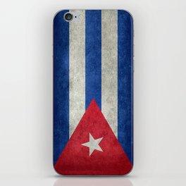Cuban national flag- vintage retro version iPhone Skin